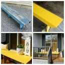 Yellow Bench Outdoor Paint Project - Satori Design for Living