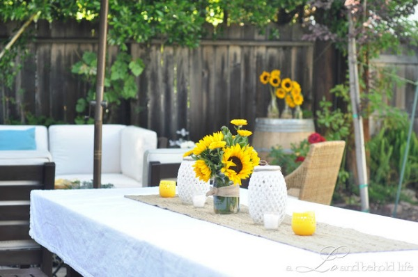 Decorating for a Backyard Barbeque - A Lo and Behold Life