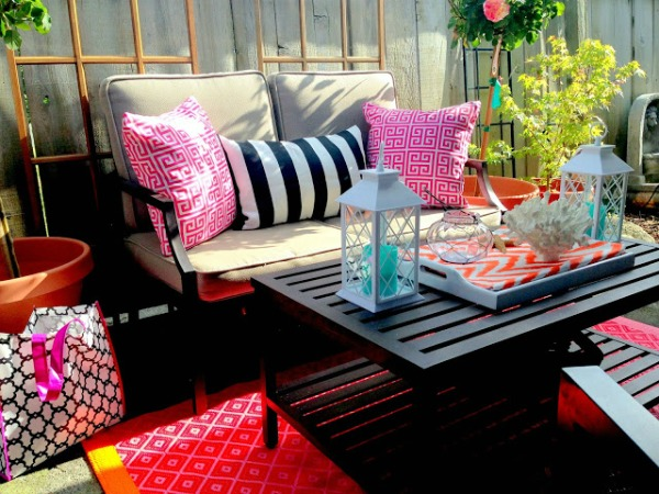 Colorful Patio Decorating - J.S. Lately Design