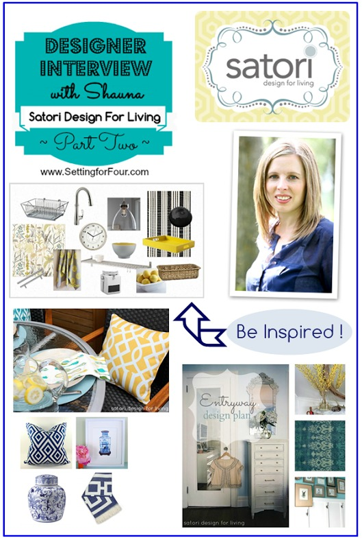 Designer Interview Satori Design for Living Part Two from Setting for Four
