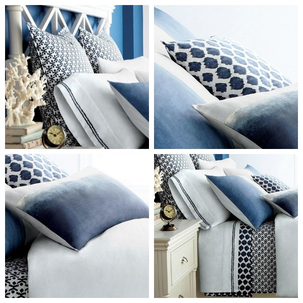 Sears Eastern Philosophy Blue and White Bedding