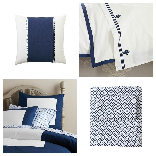Serena and Lily Blue and White Bedding