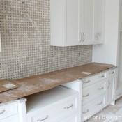 White Kitchen with Marble Backsplash Construciton_2