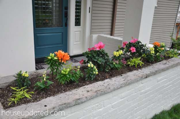 Planter Box With Colorful Flowers - House Updated