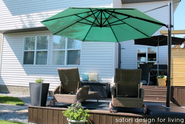 Backyard Updates - Aqua Offset Umbrella - Satori Design for Living