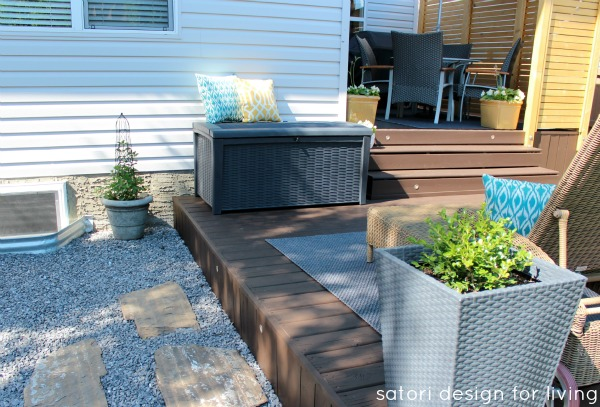 Backyard Updates - Rattan Deck Box for Storage
