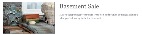 Basement Sale at Charlie Ford