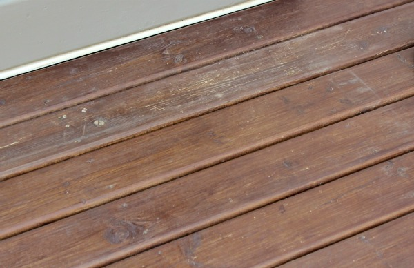 Deck Makeover- Adding Grey Stain Over Brown Stain - BEFORE