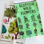 Flowers and Trees Vintage Tea Towels