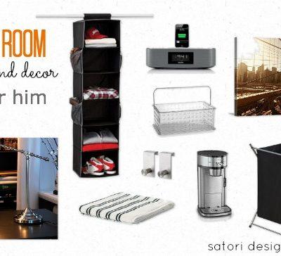 Dorm Room Storage and Decor {For Him}
