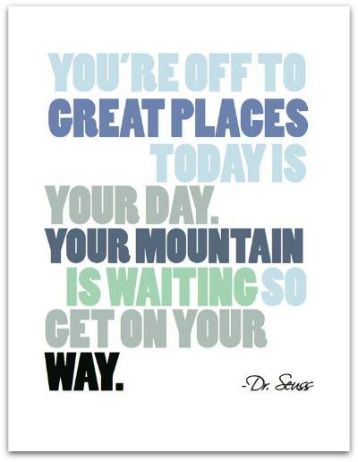 Dr. Seuss Quote Print 1- The Village Press
