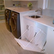 Functional Laundry Room with Pullout Sorting Basket