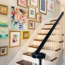 Decorating Crush: Hanging Art in the Stairwell