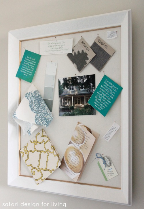 DIY White and Gold Pinboard - Satori Design for Living