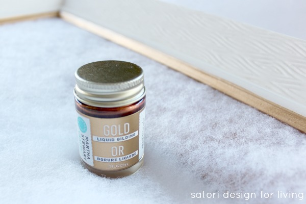 Gold Liquid Gilding Project - Satori Design for Living