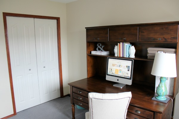 Home Office Desk and Closet - Before