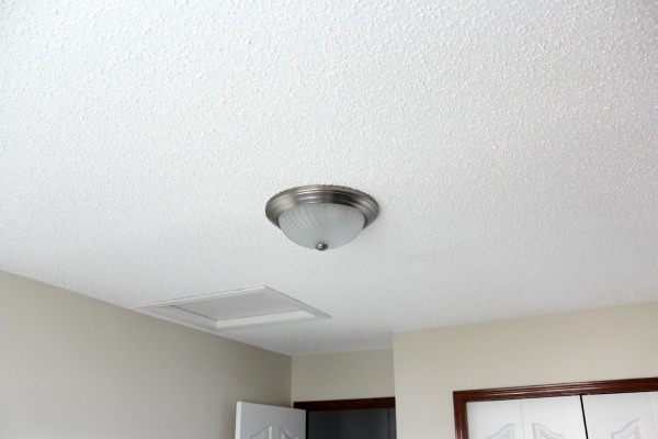 Home Office Light Fixture - Before