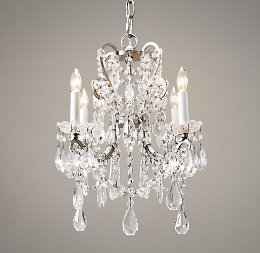 Manor Court Crystal 4-arm Chandelier - RH Baby and Child