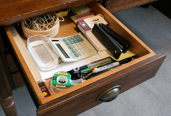 Office Desk Top Drawer - Before