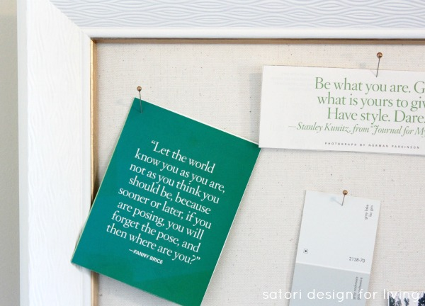 DIY Office Inspiration Board with Quotes - Satori Design for Living