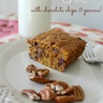 Pumpkin Cake with Chocolate Chips & Pecans