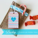 Make these adorable burlap table favors for Christmas. An easy, inexpensive and fun way to dress up the kids' table!