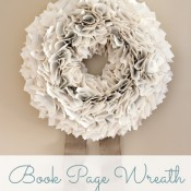 My Version of the Book Page Wreath