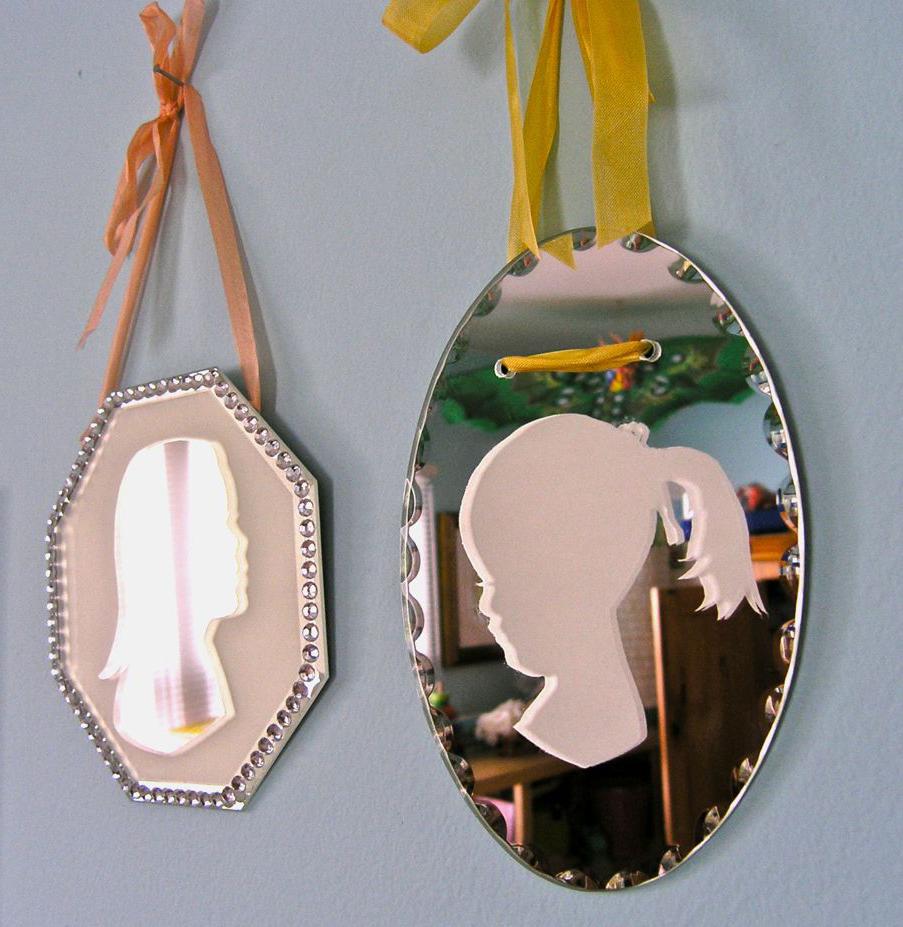 Handmade Gift Ideas   DIY Silhouette Mirrors   Modern Mom