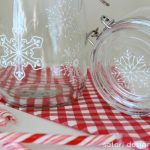DIY Snowflake Glass Canisters- Glass Paint Tutorial - Satori Design for Living