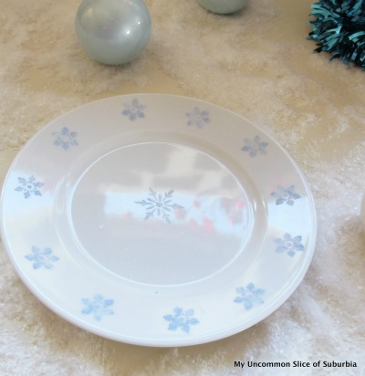 DIY Snowflake Plate - My Uncommon Slice of Suburbia