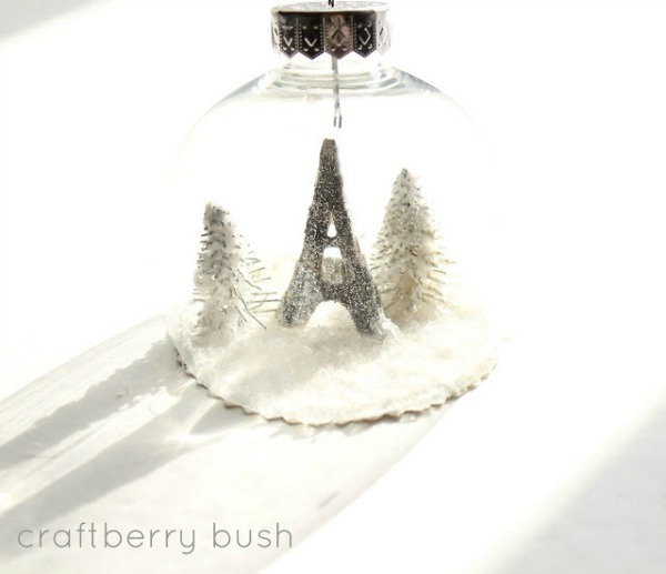 Handmade Gift Ideas | DIY Snowglobe Ornament | Craftberry Bush