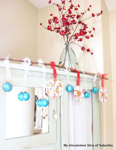 DIY Thankful Branches with Ornaments - My Uncommon Slice of Suburbia