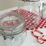 Painted Glass Canisters {One Item Project Challenge}