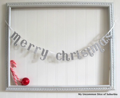 Merry Christmas Ribbon Garland | My Uncommon Slice of Suburbia