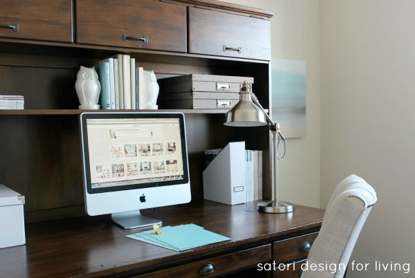 Office Makeover - Final Week of the One Room Challenge - Satori Design for Living