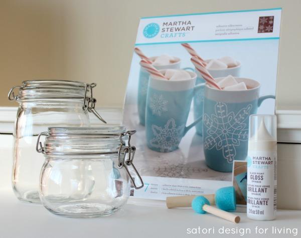 Glass Paint Tutorial - Snowflake Storage Jars - Satori Design for Living