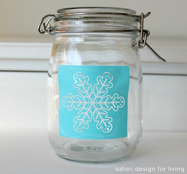 Painted Glass Canister Tutorial - Screen Print Stencil - Satori Design for Living