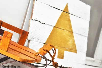 Pallet Christmas Tree Decor - Cherished Bliss