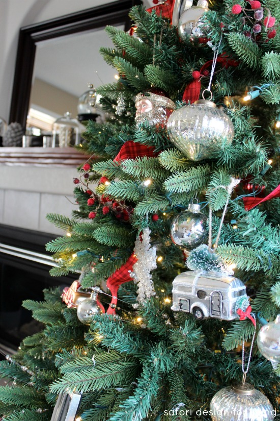 Red, white and silver Christmas tree | Satori Design for Living
