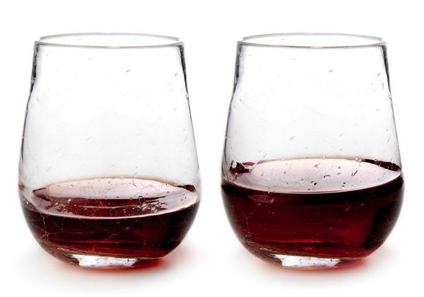 Stemless Crackle Wine Glasses   Satori Design for Living