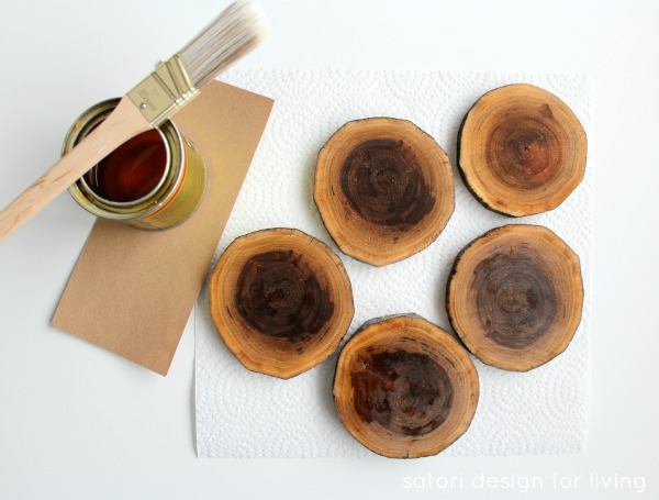 Tutorial for Log Slice Drink Coasters | Satori Design for Living
