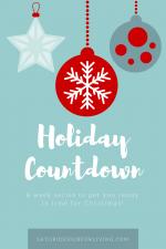 Holiday Countdown Planner {Week Five}
