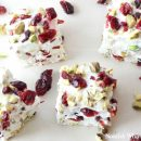 Festive Homemade Marshmallows with Cranberries and Pistachios - Made with Honey