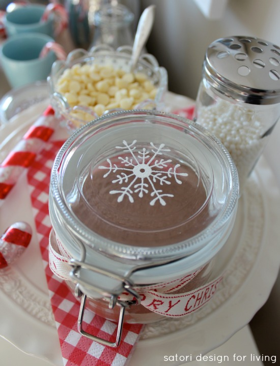 Nostalgic Hot Cocoa Station with Hand Printed Glass Canisters by Satori Design for Living