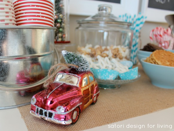 Nostalgic Hot Cocoa Station in Vintage Red and Blue by Satori Design for Living