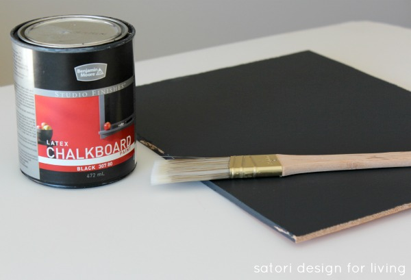 How to make a chalkboard | Satori Design for Living