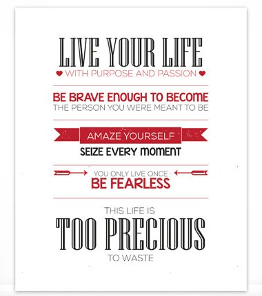 Live Your Passion   Quotable Life on Etsy