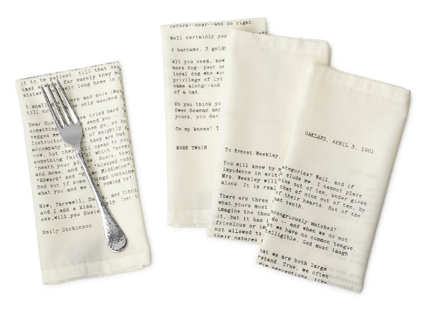 Entertaining Ideas | Love Letter Napkins | Satori Design for Living