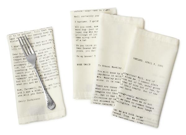Love Letter Napkins   Satori Design for Living
