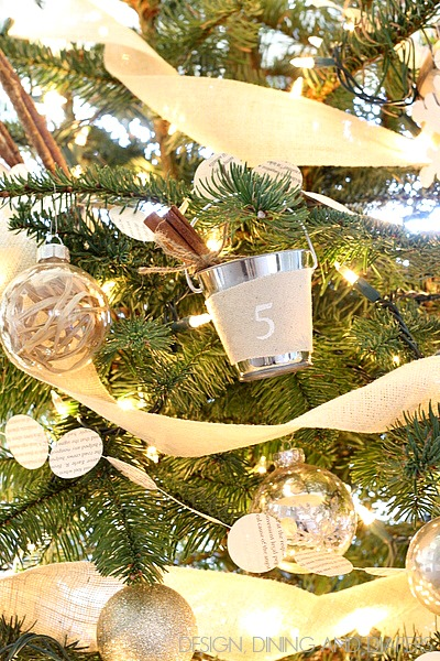 All Things Christmas- Mini Bucket Pail Ornament- Design, Dining & Diapers
